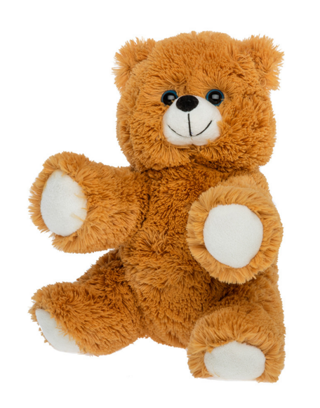 Brown and white unstuffed bear stuffable animal kit